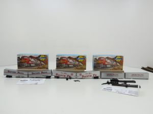 """Schaal H0 Athern 5157 2-pack trailer """"Santa Fe"""",  5160 2-pack trailer """"Southern Pacific"""" en 5173 2-pack trailer """"Union Pacific"""" #852"""