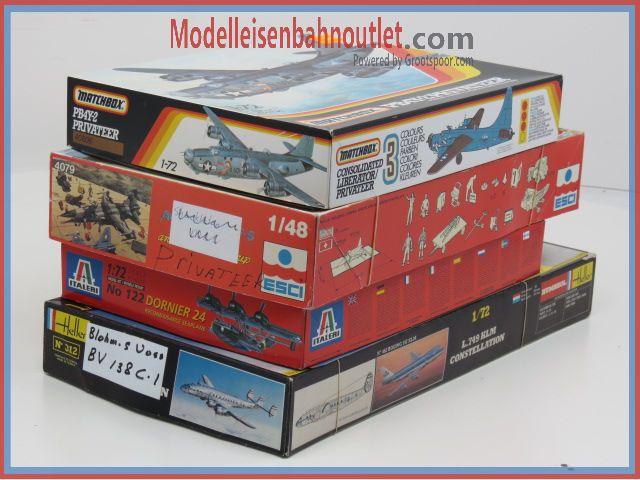 1:72 Set 4st. Matcbox40606, Italeri122, Revell 4292 & 4368 #89
